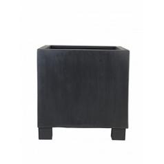 Кашпо Pottery Pots Fiberstone jumbo black, чёрного цвета M размер Длина — 70 см