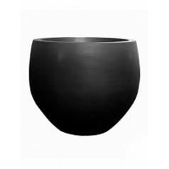 Кашпо Pottery Pots Fiberstone jumbo black, чёрного цвета orb L размер  Диаметр — 133 см
