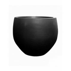 Кашпо Pottery Pots Fiberstone jumbo black, чёрного цвета orb M размер  Диаметр — 110 см