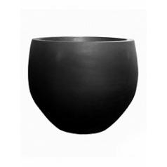 Кашпо Pottery Pots Fiberstone jumbo black, чёрного цвета orb S размер  Диаметр — 87 см