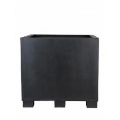Кашпо Pottery Pots Fiberstone jumbo black, чёрного цвета XL размер Длина — 110 см