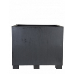 Кашпо Pottery Pots Fiberstone jumbo black, чёрного цвета XXL размер Длина — 130 см