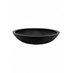 Кашпо Pottery Pots Fiberstone jumbo bowl black, чёрного цвета S размер  Диаметр — 70 см