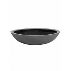 Кашпо Pottery Pots Fiberstone jumbo bowl grey, серого цвета M размер  Диаметр — 85 см