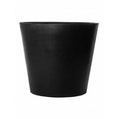 Кашпо Pottery Pots Fiberstone jumbo cone black, чёрного цвета M размер  Диаметр — 98 см