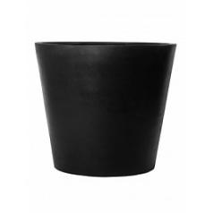 Кашпо Pottery Pots Fiberstone jumbo cone black, чёрного цвета S размер  Диаметр — 83 см