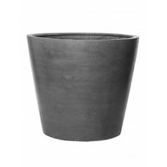Кашпо Pottery Pots Fiberstone jumbo cone grey, серого цвета L размер  Диаметр — 112 см