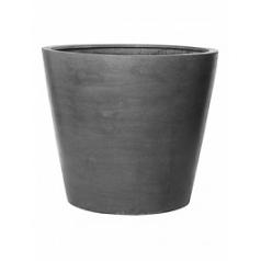 Кашпо Pottery Pots Fiberstone jumbo cone grey, серого цвета S размер  Диаметр — 83 см