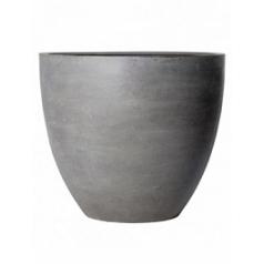 Кашпо Pottery Pots Fiberstone jumbo grey, серого цвета L размер  Диаметр — 112 см