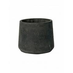 Кашпо Pottery Pots Eco-line patt M размер black, чёрного цвета washed  Диаметр — 15 см