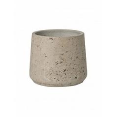 Кашпо Pottery Pots Eco-line patt M размер grey, серого цвета washed  Диаметр — 15 см