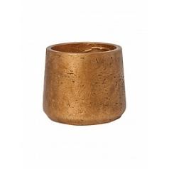 Кашпо Pottery Pots Eco-line patt M размер metalic copper  Диаметр — 15 см