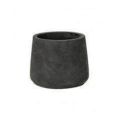 Кашпо Pottery Pots Eco-line patt S размер black, чёрного цвета washed  Диаметр — 135 см