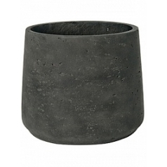 Кашпо Pottery Pots Eco-line patt XL размер black, чёрного цвета washed  Диаметр — 23 см
