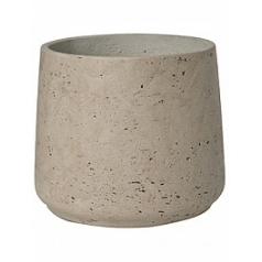 Кашпо Pottery Pots Eco-line patt XL размер grey, серого цвета washed  Диаметр — 23 см