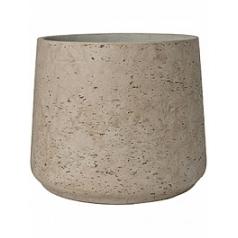 Кашпо Pottery Pots Eco-line patt XXL размер grey, серого цвета washed  Диаметр — 34 см