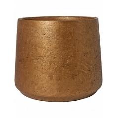 Кашпо Pottery Pots Eco-line patt XXL размер metalic copper  Диаметр — 34 см