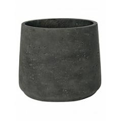 Кашпо Pottery Pots Eco-line patt XXXL размер black, чёрного цвета washed  Диаметр — 45 см