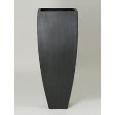 Кашпо Pottery Pots Fiberstone ace black, чёрного цвета Длина — 465 см