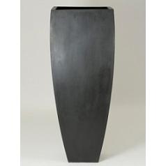 Кашпо Pottery Pots Fiberstone ace black, чёрного цвета Длина — 60 см