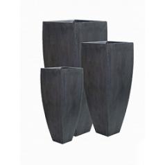 Кашпо Pottery Pots Fiberstone ace grey, серого цвета (3) Длина — 60 см