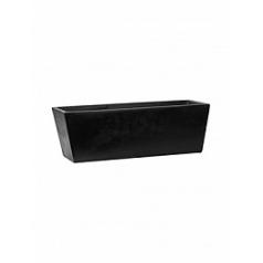 Кашпо Pottery Pots Fiberstone balcony beau black, чёрного цвета M размер Длина — 60 см