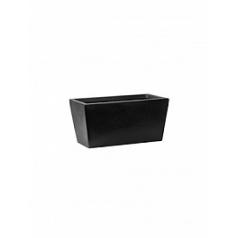 Кашпо Pottery Pots Fiberstone balcony beau black, чёрного цвета XS размер Длина — 40 см