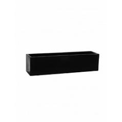 Кашпо Pottery Pots Fiberstone balcony black, чёрного цвета XL размер Длина — 80 см