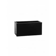 Кашпо Pottery Pots Fiberstone balcony black, чёрного цвета XS размер Длина — 40 см