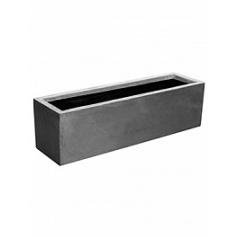 Кашпо Pottery Pots Fiberstone balcony grey, серого цвета L размер Длина — 70 см