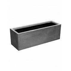 Кашпо Pottery Pots Fiberstone balcony grey, серого цвета M размер Длина — 60 см