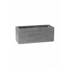 Кашпо Pottery Pots Fiberstone balcony grey, серого цвета S размер Длина — 50 см