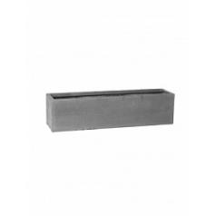 Кашпо Pottery Pots Fiberstone balcony grey, серого цвета XL размер Длина — 80 см