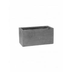 Кашпо Pottery Pots Fiberstone balcony grey, серого цвета XS размер Длина — 40 см