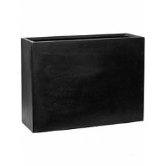 Кашпо Pottery Pots Fiberstone balcony high black, чёрного цвета M размер Длина — 60 см