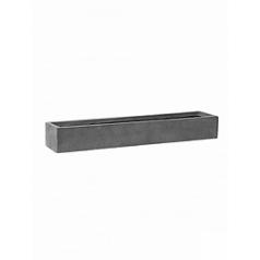 Кашпо Pottery Pots Fiberstone balcony slim low grey, серого цвета L размер Длина — 70 см