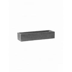 Кашпо Pottery Pots Fiberstone balcony slim low grey, серого цвета S размер Длина — 50 см