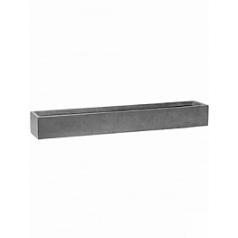 Кашпо Pottery Pots Fiberstone balcony slim low grey, серого цвета XL размер Длина — 80 см