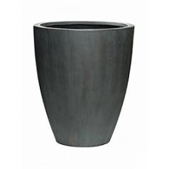 Кашпо Pottery Pots Fiberstone ben L размер antique grey, серого цвета  Диаметр — 465 см