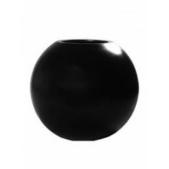 Кашпо Pottery Pots Fiberstone beth black, чёрного цвета  Диаметр — 50 см