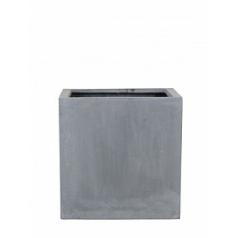 Кашпо Pottery Pots Fiberstone block grey, серого цвета M размер Длина — 40 см