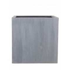 Кашпо Pottery Pots Fiberstone block grey, серого цвета XL размер Длина — 60 см