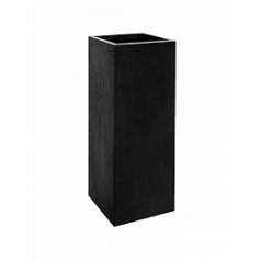 Кашпо Pottery Pots Fiberstone bouvy black, чёрного цвета XXL размер Длина — 50 см