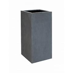 Кашпо Pottery Pots Fiberstone bouvy grey, серого цвета XL размер Длина — 50 см