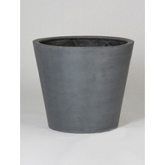 Кашпо Pottery Pots Fiberstone bucket grey, серого цвета M размер  Диаметр — 58 см