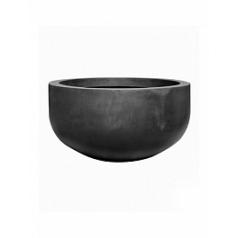 Кашпо Pottery Pots Fiberstone city bowl black, чёрного цвета S размер  Диаметр — 92 см