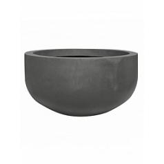Кашпо Pottery Pots Fiberstone city bowl grey, серого цвета L размер  Диаметр — 128 см