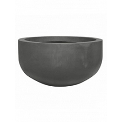 Кашпо Pottery Pots Fiberstone city bowl grey, серого цвета S размер  Диаметр — 92 см