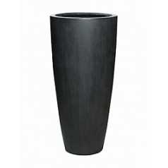 Кашпо Pottery Pots Fiberstone dax antique grey, серого цвета XL размер  Диаметр — 47 см