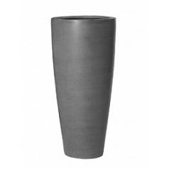 Кашпо Pottery Pots Fiberstone dax grey, серого цвета L размер  Диаметр — 37 см